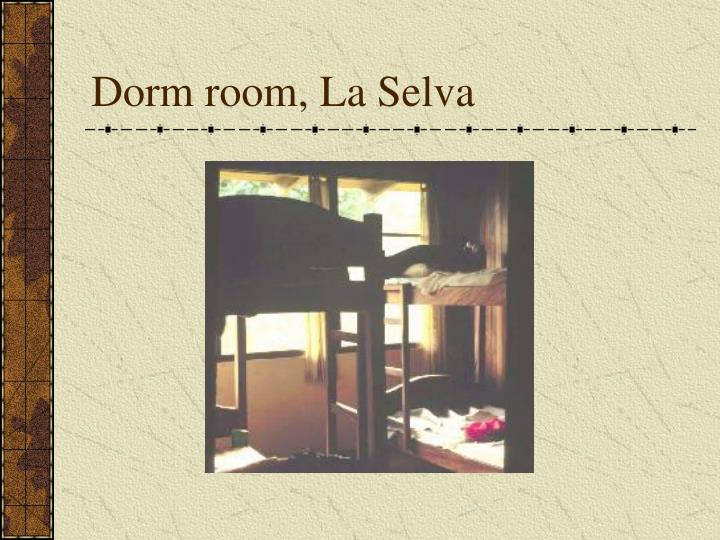 Dorm room, La Selva