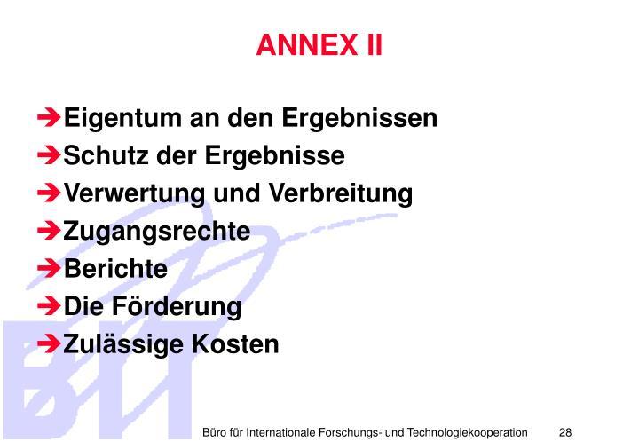ANNEX II