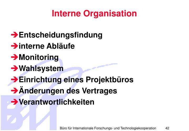 Interne Organisation