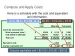 compute and apply costs3