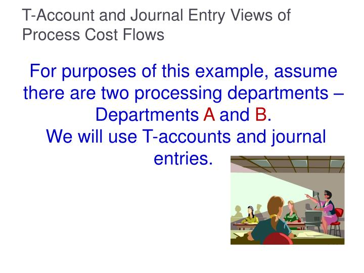 T-Account and Journal Entry Views of Process Cost Flows