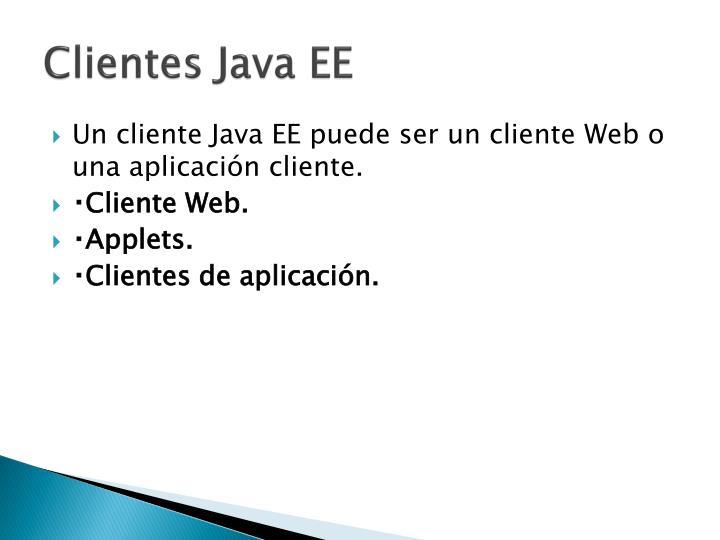 Clientes Java EE