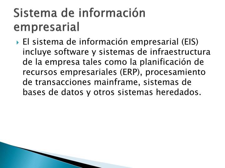 Sistema de información empresarial