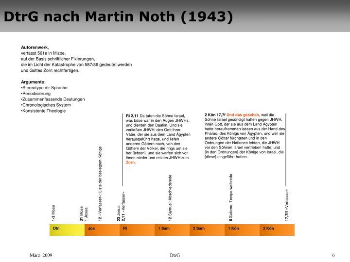 DtrG nach Martin Noth (1943)