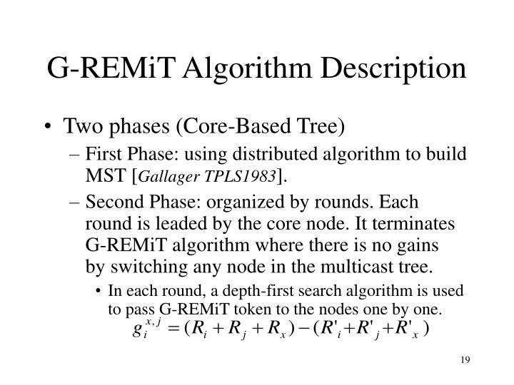 G-REMiT Algorithm Description