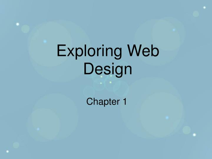 Exploring web design