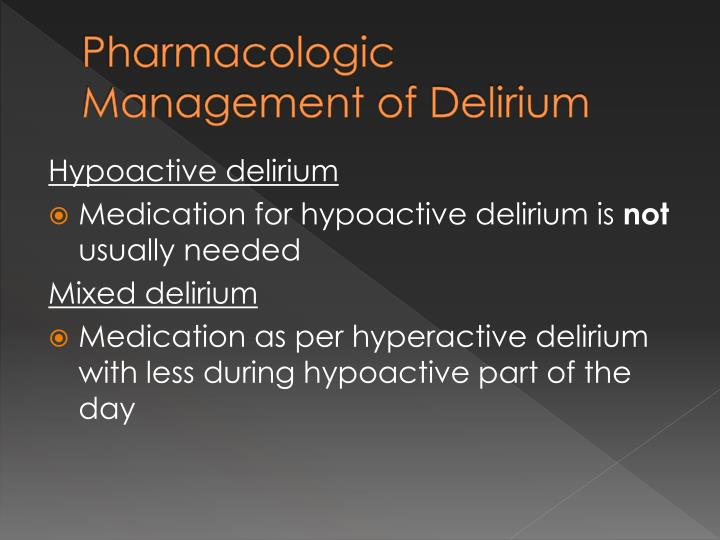 Ppt Symptom Control Agitation And Delirium Powerpoint