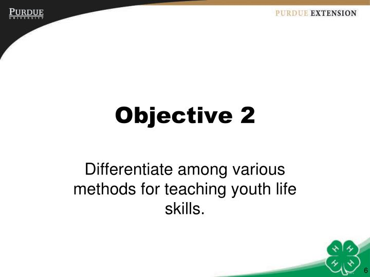 Objective 2