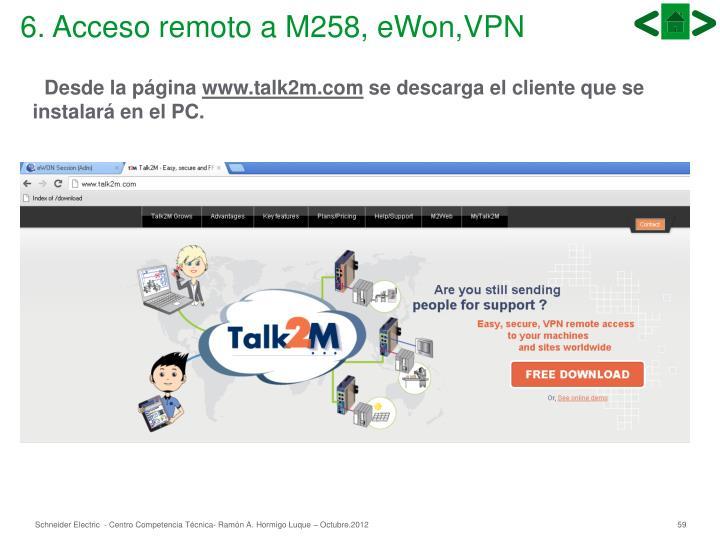 6. Acceso remoto a M258, eWon,VPN