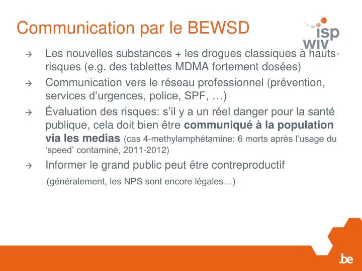 Communication par le BEWSD