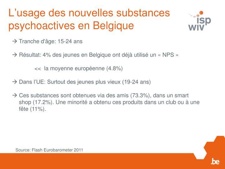 L'usage des nouvelles substances psychoactives en Belgique