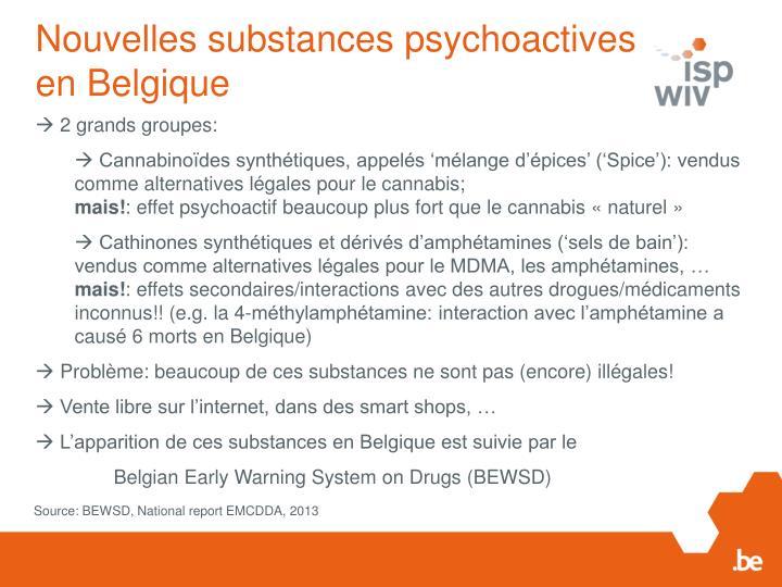 Nouvelles substances psychoactives en Belgique
