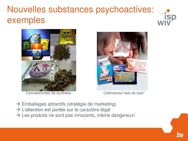 Nouvelles substances psychoactives: exemples