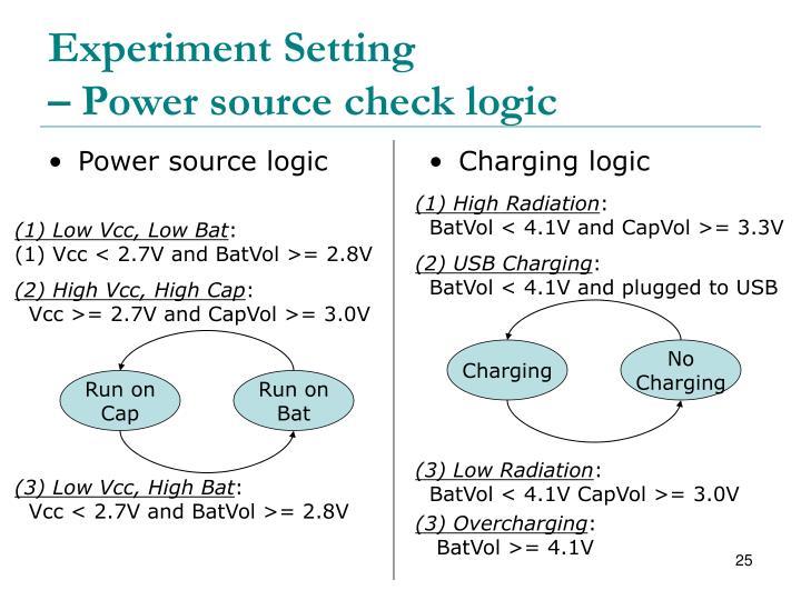 Power source logic