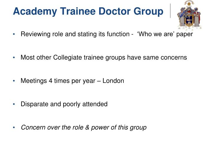 Academy Trainee Doctor Group