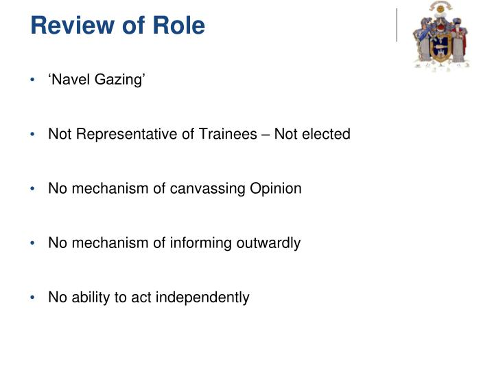 Review of Role