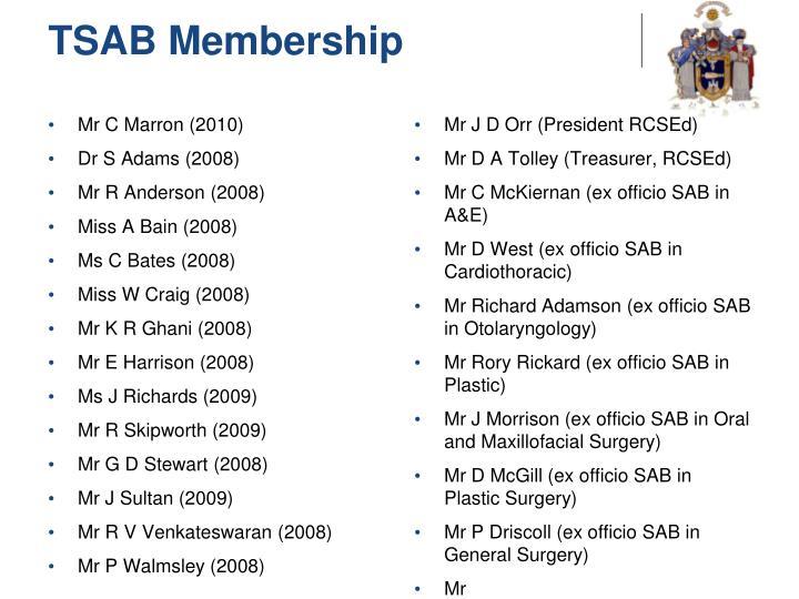 TSAB Membership