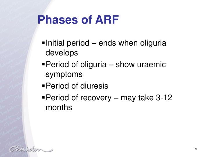 Phases of ARF