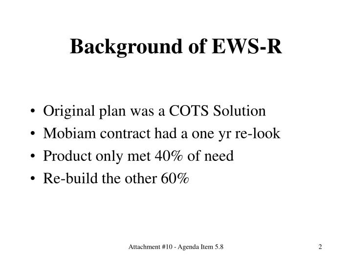 Background of EWS-R