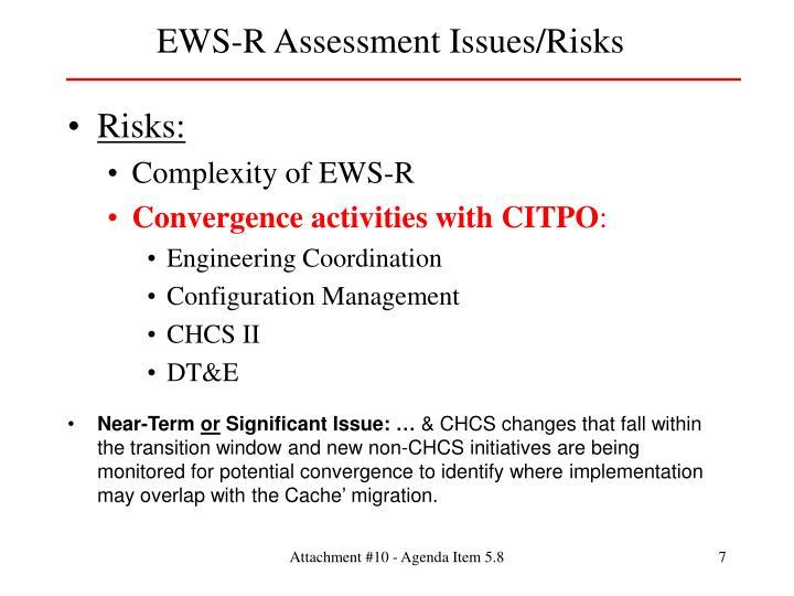 EWS-R Assessment Issues/Risks