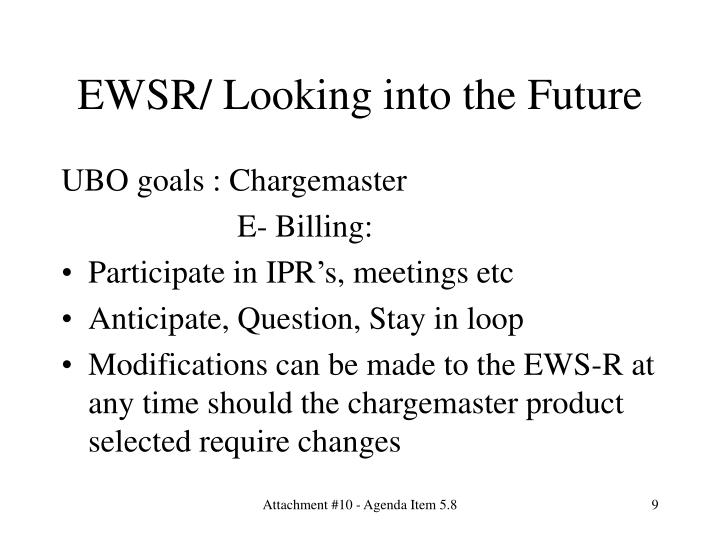 EWSR/ Looking into the Future