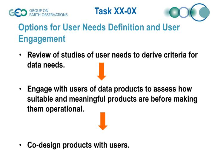 Options for User Needs Definition and User Engagement