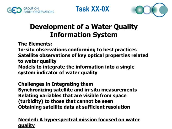 Development of a Water Quality Information System