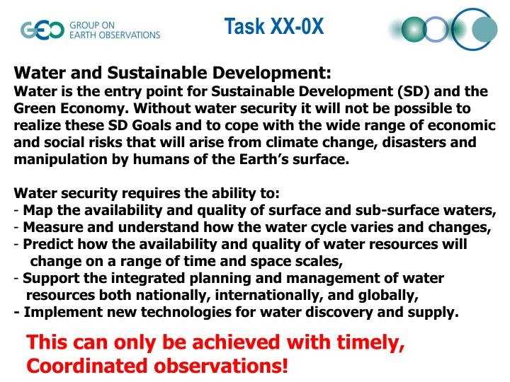 Water and Sustainable Development: