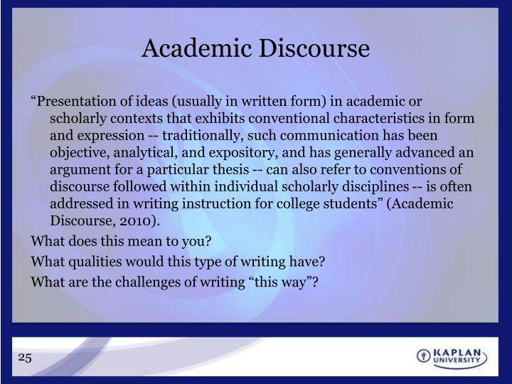 Academic Discourse
