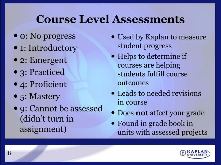 Course Level Assessments