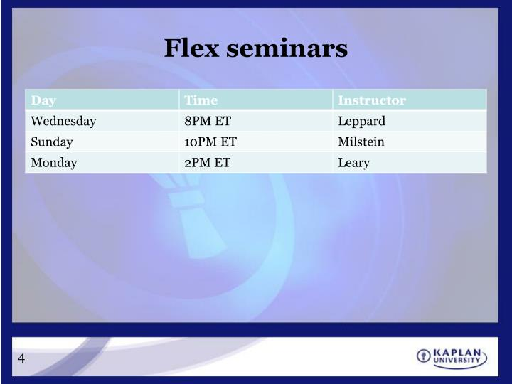 Flex seminars