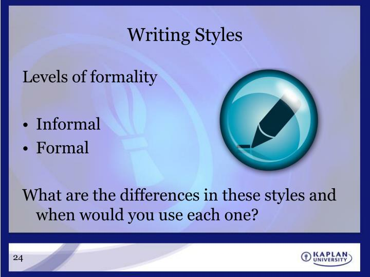 Writing Styles