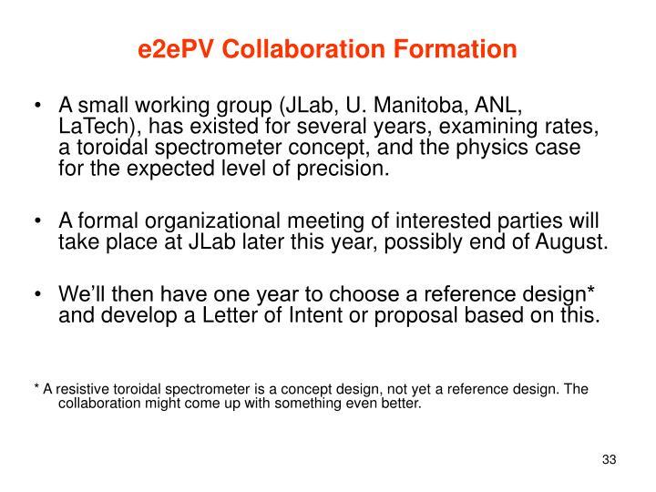 e2ePV Collaboration Formation
