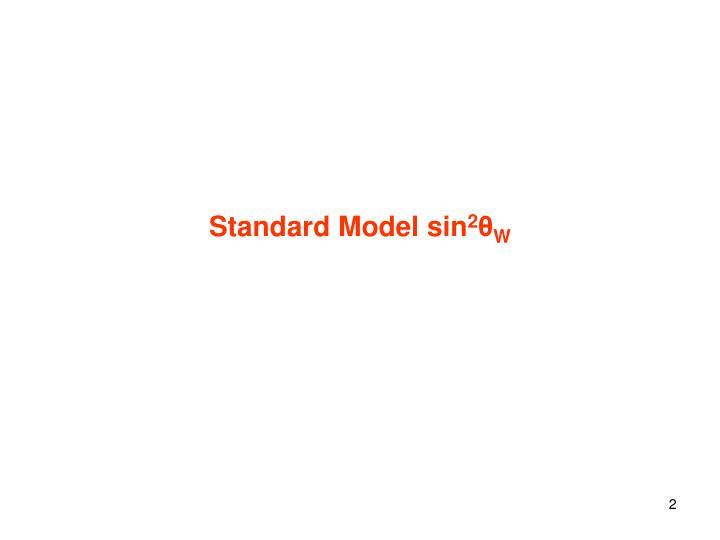 Standard Model sin