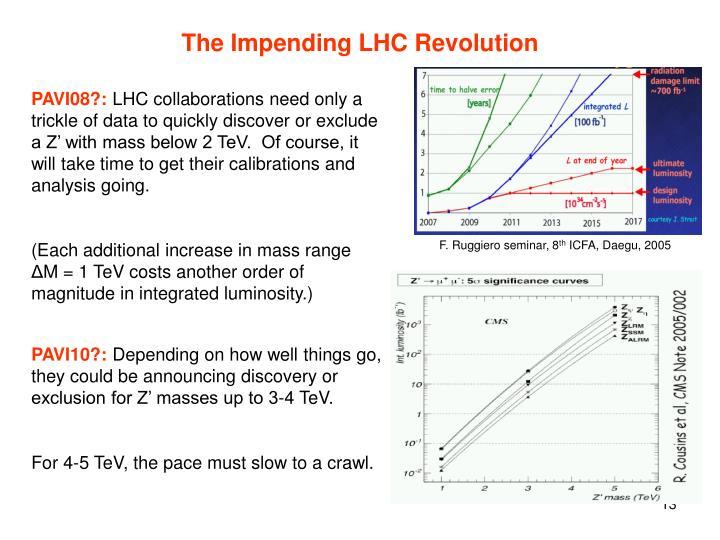 The Impending LHC Revolution