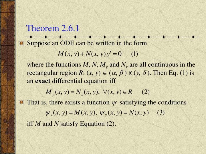 Theorem 2.6.1
