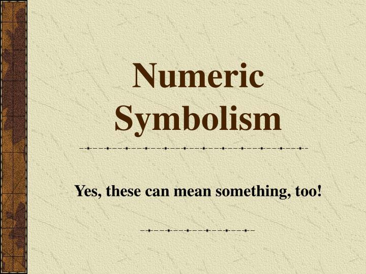 Numeric Symbolism