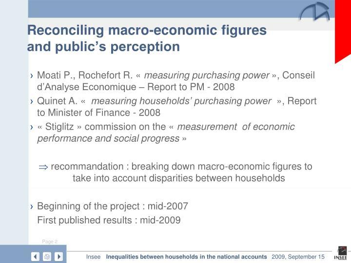 Reconciling macro-economic figures