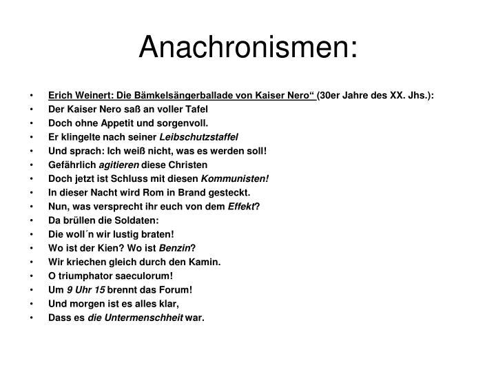 Anachronismen: