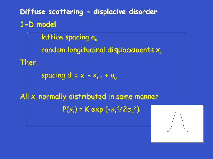 Diffuse scattering - displacive disorder