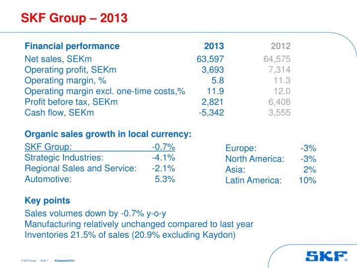 SKF Group – 2013