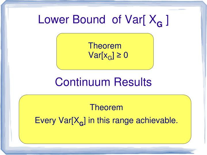 Lower Bound  of Var[ X