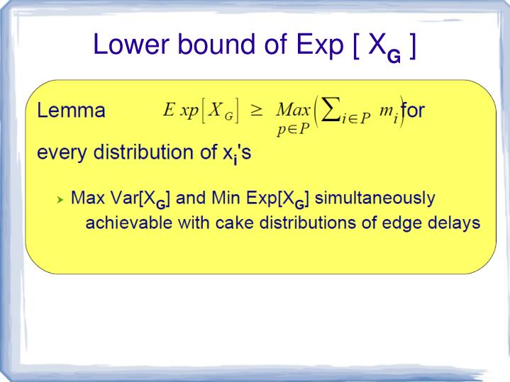 Lower bound of Exp [ X