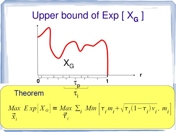 Upper bound of Exp [ X