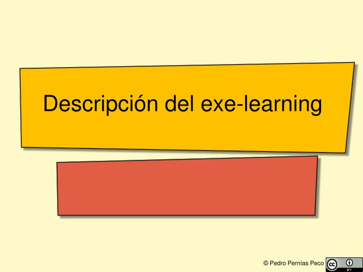 Descripción del exe-learning