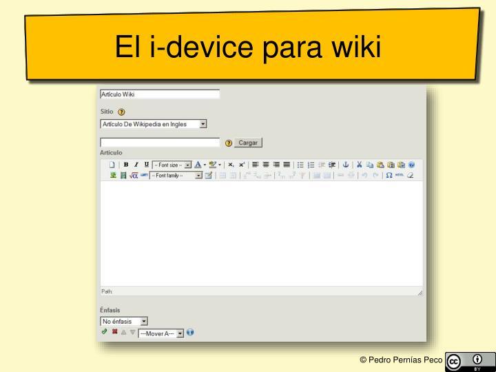 El i-device para wiki
