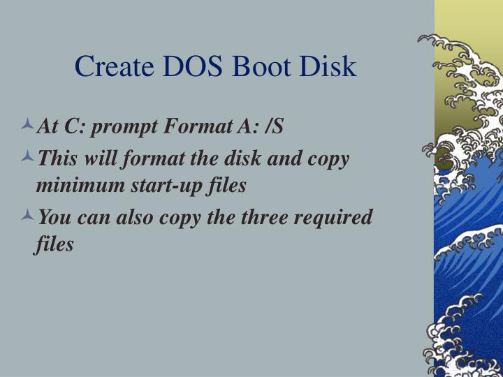 Create dos boot disk