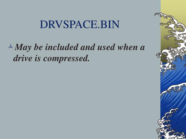 DRVSPACE.BIN