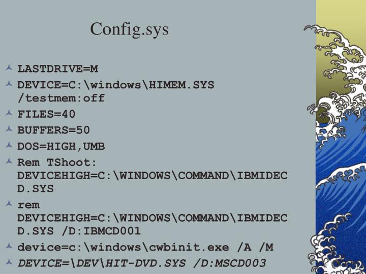 Config.sys