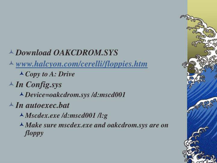Download OAKCDROM.SYS